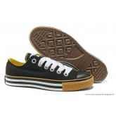 Converse All Star Basse Homme Toile Stripes Noir Jaune