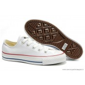 Converse All Star Basse Toile Blanche Beige
