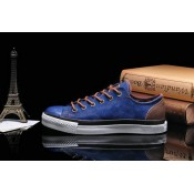Converse All Star Basse Toile Homme Chaussures Bleu Chocolat