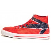 Converse Pas Cher Converse All Star Drapeau Rouge Uk Chiffon Bleu Denim