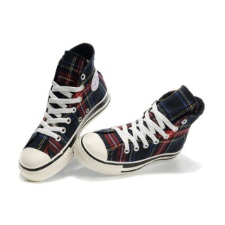 Converse Pas Cher Converse All Star Ecosse Punk Plaid Bleu