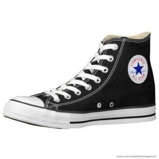 Converse All Star Haute Homme Toile Chaussures Noir Blanche