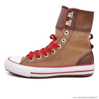 Converse All Star Haute Suede Chaussures Pour Femme Grenat Café