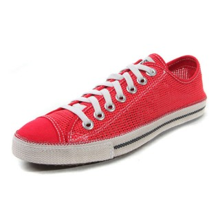 Converse All Star Soldes Maille Rouge