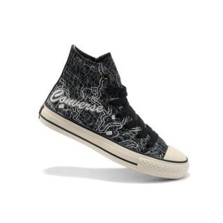 Converse All Star Soldes New York Cartes Gris Noir