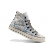 Converse All Star Soldes New York City Maps Bleu Blanc