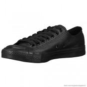 Converse All Star Ox Cuir Chaussures Pour Homme Noir