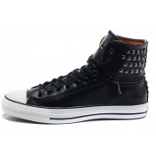 Converse All Star Pas Cher Rivets En Cuir Noir De Tirette X