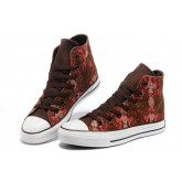Converse All Star Pas Cher Serpent Brun Texture Rouge