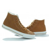 Converse All Star Pas Cher Shearling Cuir Daim Marron