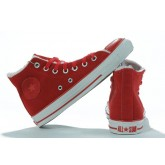 Converse All Star Pas Cher Shearling Cuir Daim Rouge