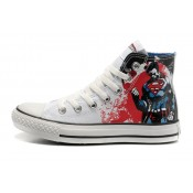 Converse All Star Pas Cher Supermangraffiti Impression Blanche