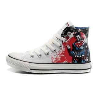 Converse All Star Pas Cher Supermangraffiti Impression Blanche