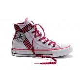 Converse All Star Pas Cher Usa Flag Blanc Et Rose