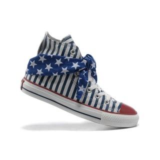 Converse All Star Pas Cher Usa Flag Foulard Bleu Cravate