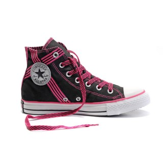 Converse All Star Pas Cher Usa Flag Noir Et Rose