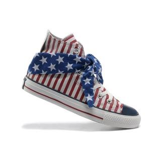 Converse All Star Pas Cher Usa Flag Rayures Rouges écharpe Cravate