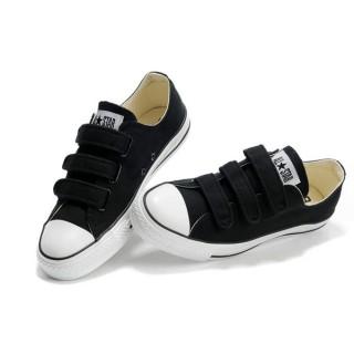 Converse All Star Pas Cher Velcro Noir