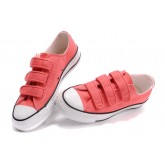 Converse All Star Pas Cher Velcro Rose Rouge