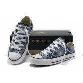 Converse All Star Soldes Plaid Bleu Blanc