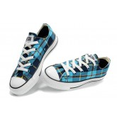 Converse All Star Soldes Plaid Bleu