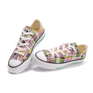 Converse All Star Soldes Plaid Coloré