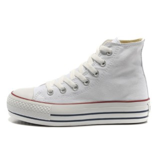 Converse All Star Soldes Plate-forme Blanche