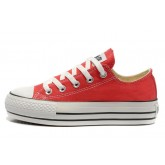 Converse All Star Soldes Plate-forme Rouge