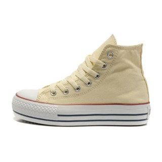 Converse All Star Soldes Plateforme Beige