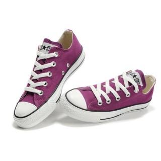 Converse All Star Soldes Purple Plaid Bleu Blanc