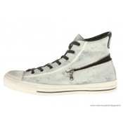 John Varvatos Homme Converse All Star Zip Haute Painted Toile Gainsboro Noir