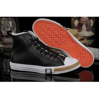 Converse Chuck Taylor All Star Avec Velours Haute Cuir Noir
