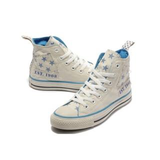 Converse Prix Chuck Taylor All Star Beige étoiles Bleues Blanches