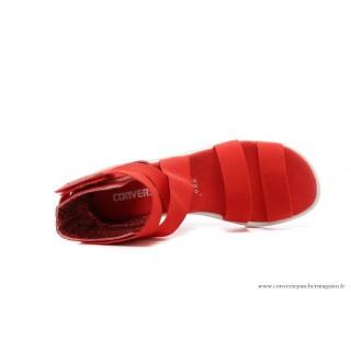 Converse Chuck Taylor All Star Femme Sandale élastique Rouge