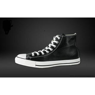 Converse Chuck Taylor All Star Haute Cuir Chaussures Noir Blanche