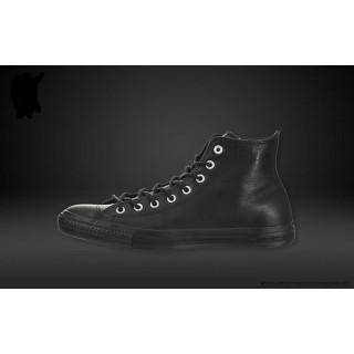 Converse Chuck Taylor All Star Haute Cuir Chaussures Noir