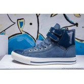 Converse Chuck Taylor All Star Haute Double Buckles Bleu