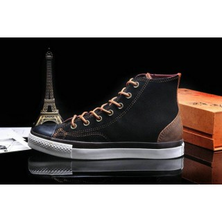 Converse Chuck Taylor All Star Haute Suede Homme Chaussures Noir Chocolat