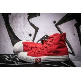 Converse Chuck Taylor All Star Haute Toile Foudre Rouge