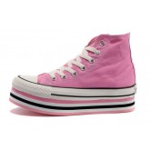 Converse Chuck Taylor All Star Plateforme Rose Clair