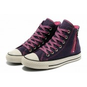 Converse Chuck Taylor All Star Puprle Léopard Glissière