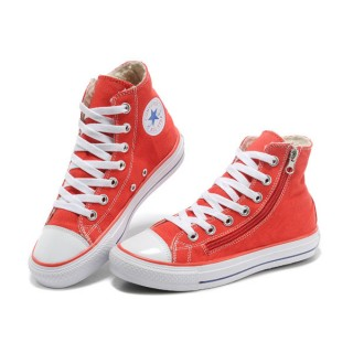 Converse Chuck Taylor All Star Rouge Sieste Douce Shearling Glissière