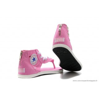 Converse Chuck Taylor All Star Zip Femme Sandale Stud Toile Rose