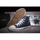 Converse Chuck Taylor All Star Zip Haute Avec Velours Bleu