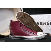 Converse Chuck Taylor All Star Zip Haute Cuir Bordeaux