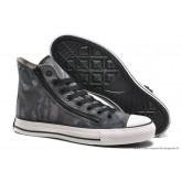 Converse Chuck Taylor All Star Zip Haute Toile Chaussures Pour Homme Grise Noir