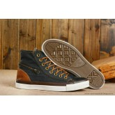 Converse Chuck Taylor All Star Zip Haute Toile Noir Chocolat
