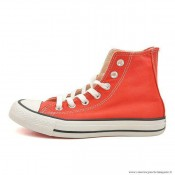 Converse Chuck Taylor All Star Zip Haute Toile Rouge Blanche