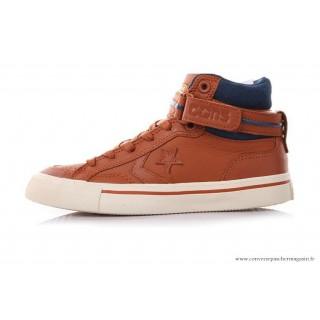 Converse Cons Sports Chaussures 144467C Marron Bleu Marine Blanche
