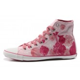 Converse France Flocage Rose